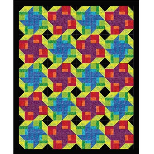 amazing how turning the same block can change the quilt completely