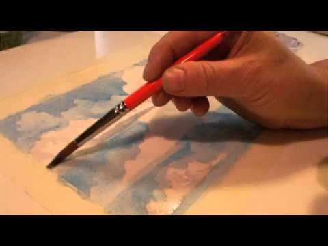 Watercolor Clouds Painting #1:  Creativity Lessons with Helen Klebesadel-s.m4v