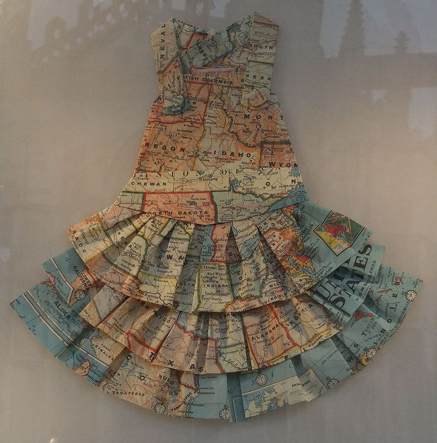 map dress by sabrina254, via Flickr