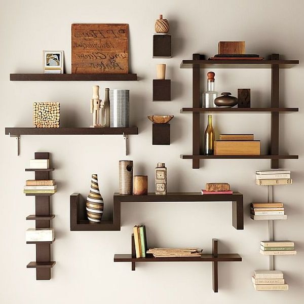wall mounted bookcase shelving