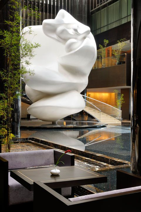 Lobby Lounge at Park Hyatt Hyderabad, designed by HBA/Hirsch Bedner Associates.