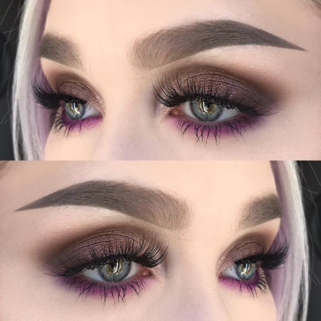 I used @katvondbeauty eyeshadows suede, oak, synergy, ribbon and glitz from the metal matte palette   @suvabeauty eyeshadow funny face from the cupcakes and monsters palette   @anastasiabeverlyhills dipbrow pomade in taupe and browpowder in taupe + clear brow gel   @felinelashes in burmilla ✨ #makeupartist #makeupartistsworldwide #hudabeauty #dressyourface #fiercesociety #makeupmafia #vegas_nay #wakeupandmakeup