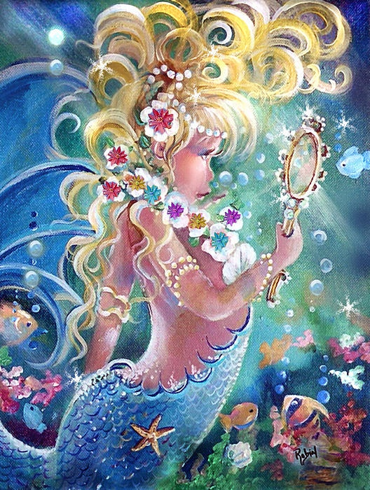 Little Blond by Robin PusheeAmazing Art, Blondies 266, Bombshell Mermaid, Blondes Bombshell, Artists Robin, Blondies Mermaid, Call Blondies, Lil Blondes, Angels Ii