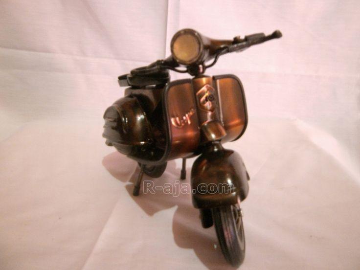 Handicraft Miniature Motor Vespa made of iron copper brass.