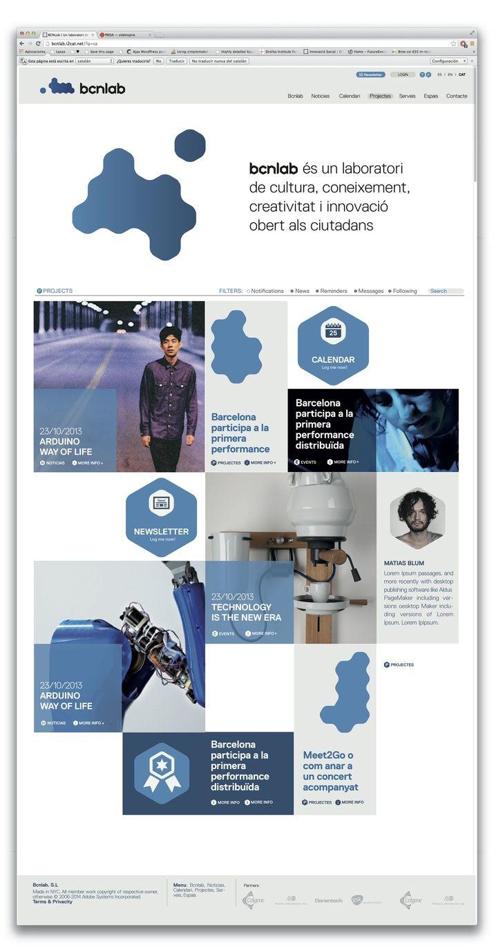 BCNLAB (Identity, Web) by Lo Siento Studio, Barcelona