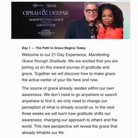 Mindfulness is not just for Mondays, it requires practice, join me on this 21 day journey! Thank you @deepakchopra @oprah #mindfulmonday #meditation #manifestinggrace #iamcompassion #dailyselfcare Join me on IG/Twitter @dailyselfcare  Pin & Facebook.com/dailyselfcare Tumblr (Daily Self-Care)