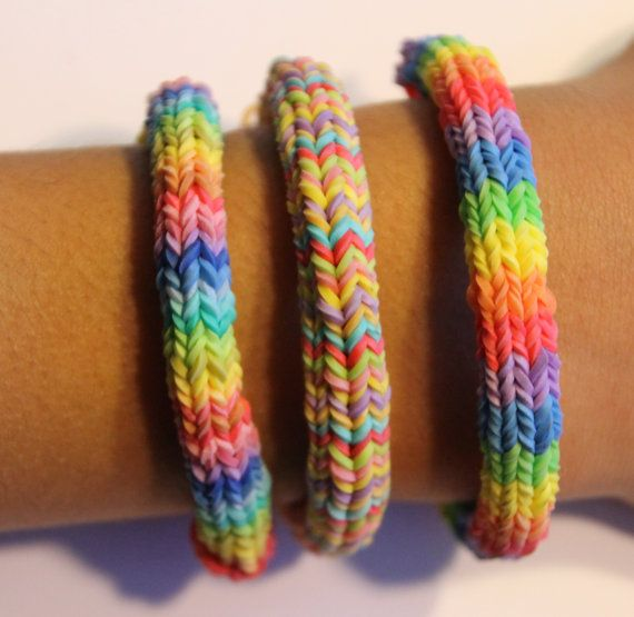 hexafish rainbow loom friendship bracelet by smilestuf on