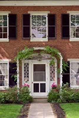 Trellis At Front Entry For The House Pinterest