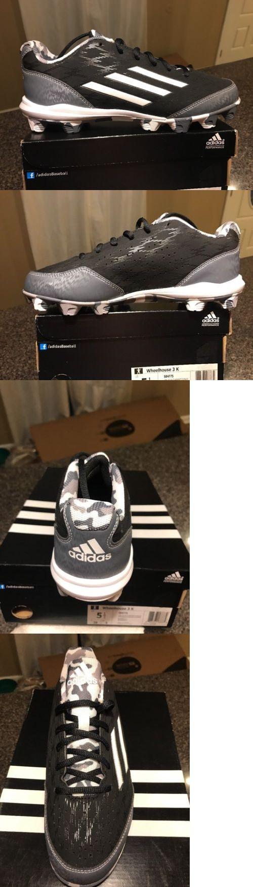 Youth 159061: New Adidas Wheelhouse 3 K Mid Youth Cleats Sz 5.5 -> BUY IT NOW ONLY: $35.99 on eBay!
