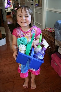 E would like her own cleaning caddy
