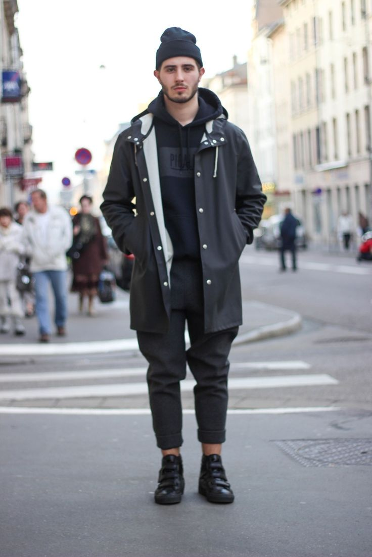 princeinjeans:  For the Spring : - Stutterheim Rain Jacket - Pigalle Hoodie - Alexander Wang Neoprene Pants - Raf Simons Velcro Sneakers