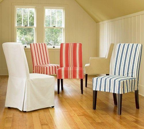 utilizar fundas de tela para renovar o decorar las sillas