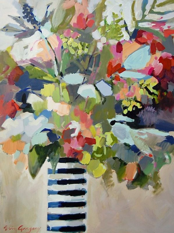 Erin Gregory paintingFloral Paintings, Gregory Painting, Floral Art Design Pattern, Erin Fitzhugh, Painters Floral, Tissue Paper Art, Painting Flower, Erin Gregory, Life Painting