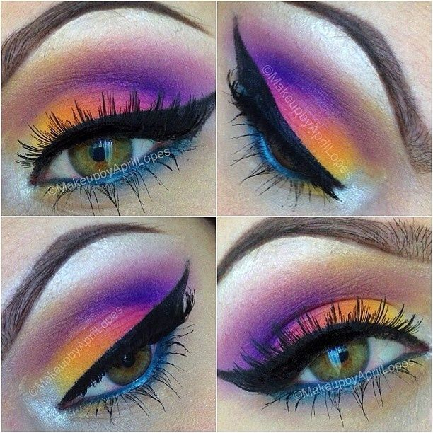 yellow, orange, pink, lilac, purple, blue,white....amarillo, naranja, rosa obscuro, lila, morado, azul y blanco if only I could do this