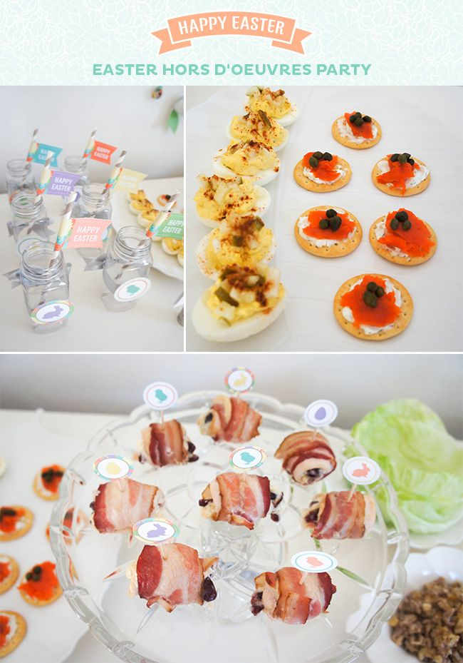 Easter Hors D'oeuvres Party with recipes and printables!
