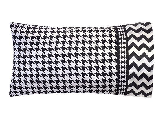 Black And White Houndstooth Pillow Case Houndstooth By Satinswank Home Decor And Furniture I: pinterest home decor black and white