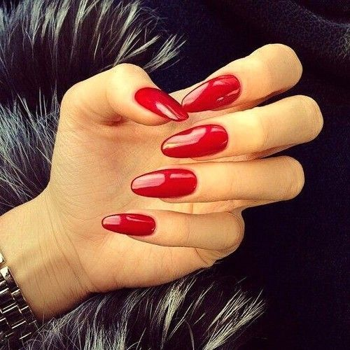 Long Nail Shapes: Best 25+ Long Red Nails Ideas On Pinterest