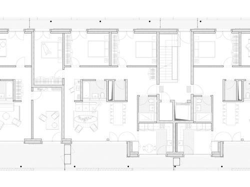 Gm r geschwentner architekten wohn berbauung roost for Room design zug