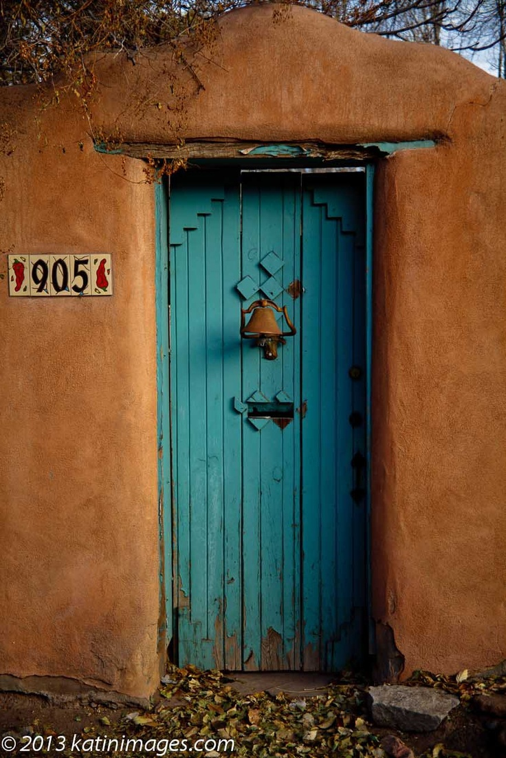 A Doorway in the Canyon Road art district of Santa Fe ...  New Mexico ....  USA