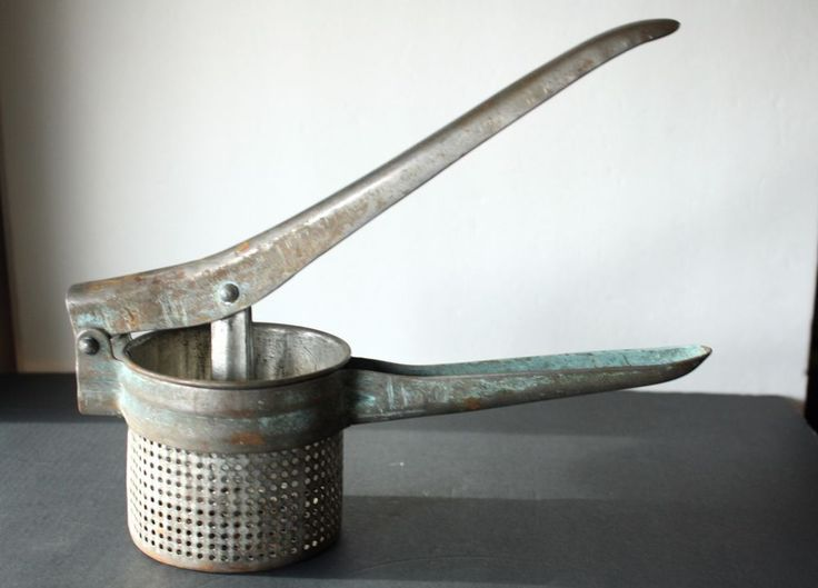 VTG Metal Food Press Potato Ricer Strainer Masher Juicer Rustic Kitchen Decor  | eBay http://www.ebay.com/itm/VTG-Metal-Food-Press-Potato-Ricer-Strainer-Masher-Juicer-Rustic-Kitchen-Decor-/181864145816?utm_campaign=crowdfire&utm_content=crowdfire&utm_medium=social&utm_source=pinterest
