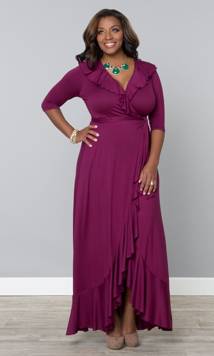 Get flirty in our plus size Maritime Maxi Dress!  This full functioning wrap dress is the perfect throw-on-and-go style that everyone should have in their wardrobe arsenal.  www.kiyonna.com  #KiyonnaPlusYou  #Plussize  #MadeintheUSA  #Kiyonna