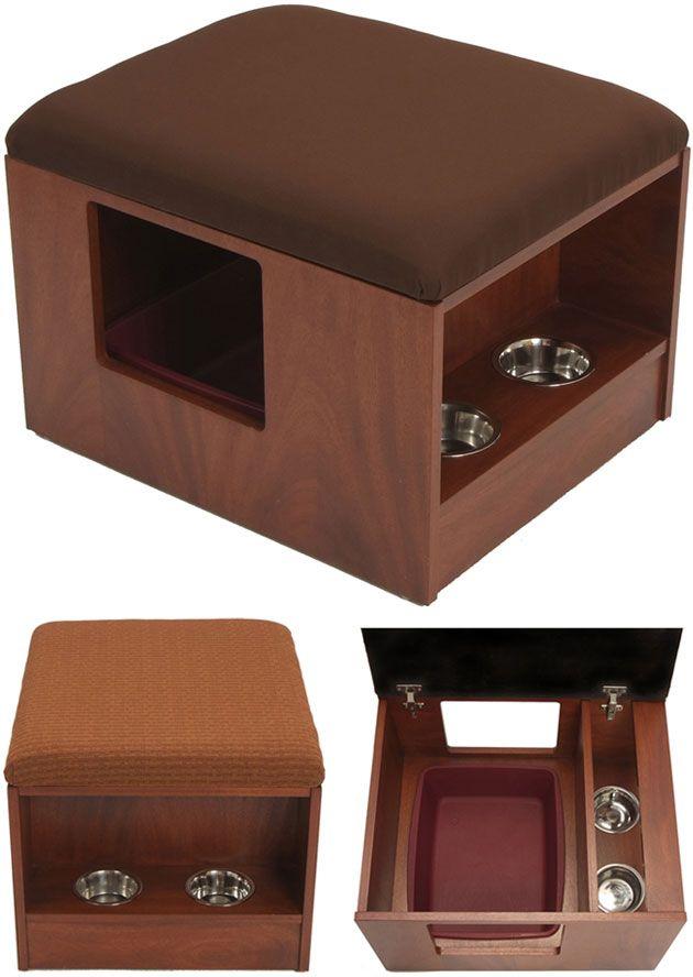 25 b sta litter box enclosure id erna p pinterest kattr d. Black Bedroom Furniture Sets. Home Design Ideas