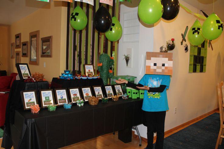 Mine Craft Birthday Party, 9th birthday