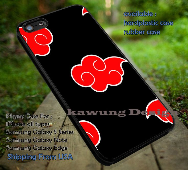 Akatsuki Cloak, Red Cloud, Akatsuki, Naruto, Anime, case/cover for iPhone 4/4s/5/5c/6/6 /6s/6s  Samsung Galaxy S4/S5/S6/Edge/Edge  NOTE 3/4/5 #cartoon #anime #Naruto ii