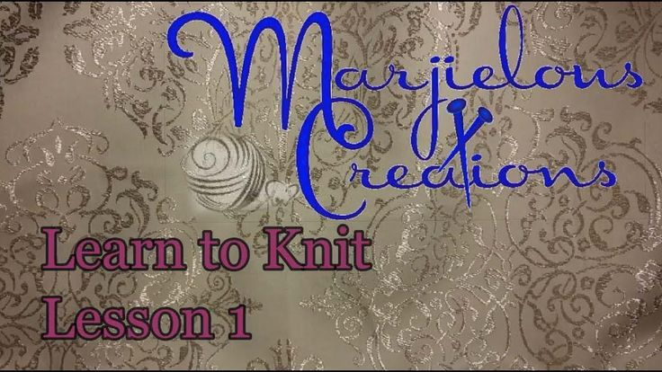 learn to knit 1