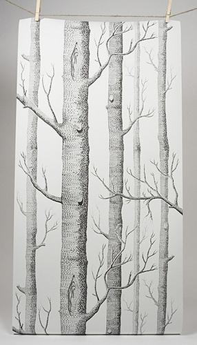 wallpaper illustration of trees