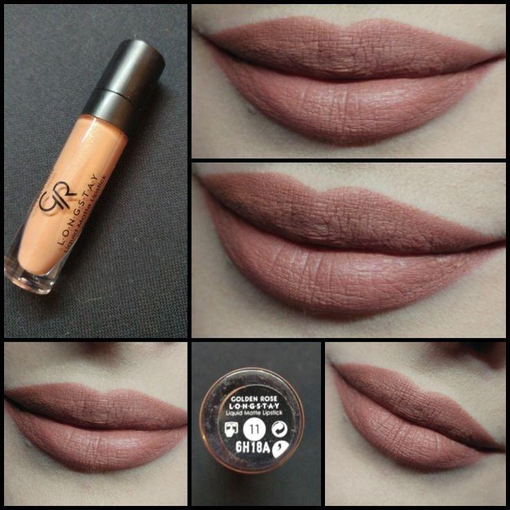 #Day62 Golden Rose Longstay Liquid Matte Kissproof Lipstick 11