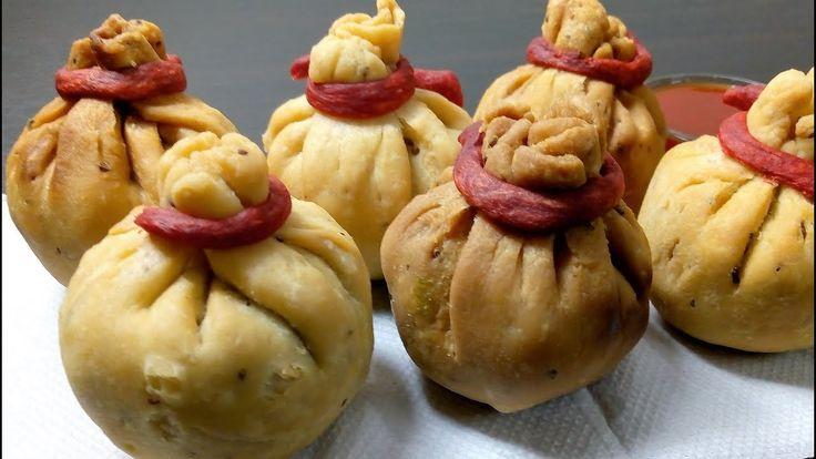 पोटली समोसा Potli Samosa Recipe | How to make Potli Samosa in Hindi