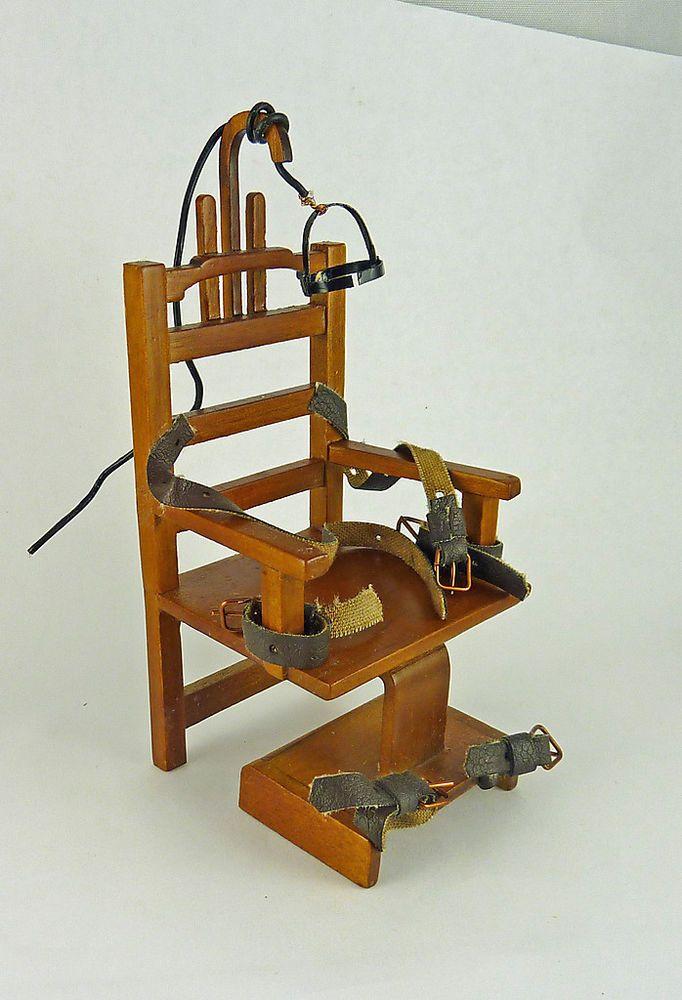 Dollhouse Miniature Spooky Old Sparky Electric Chair | Dolls & Bears, Dollhouse Miniatures, Furniture & Room Items | eBay!
