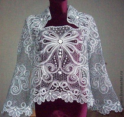 """Блузки ручной работы. Ярмарка Мастеров - ручная работа Блуза """" Роскошная"""" ручное кружево. Handmade."""