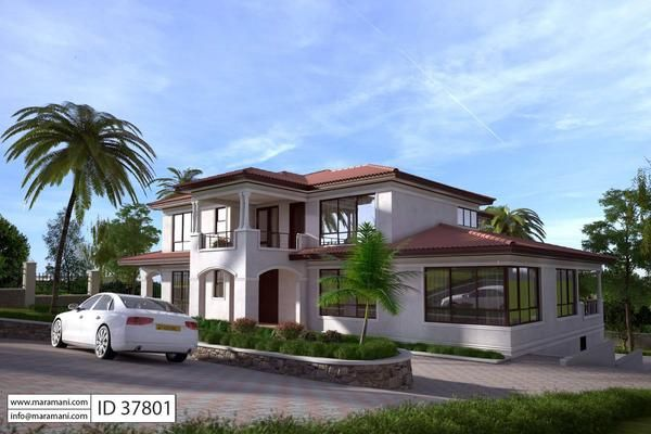 7 Bedroom House Design Id 37801 House Designs By Maramani In 2020 Pool House Plans Beach House Plans Two Story House Plans