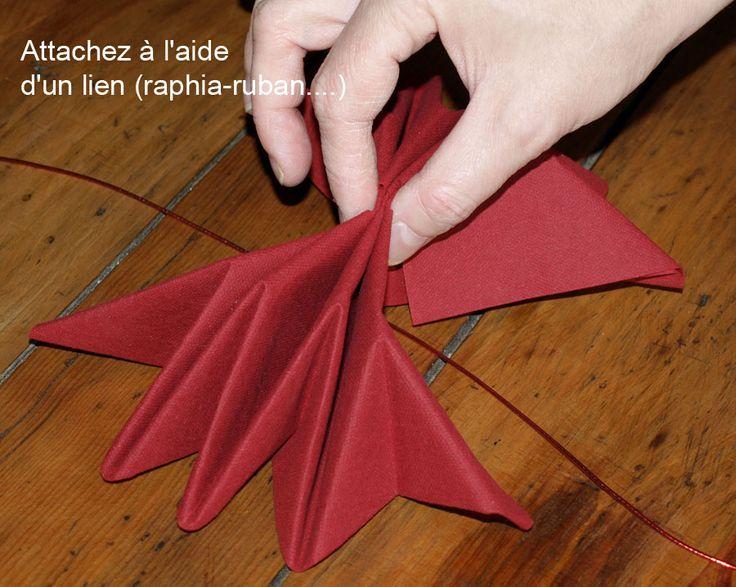 55 best images about pliages de serviettes on pinterest mariage origami an - Serviette de table origami ...
