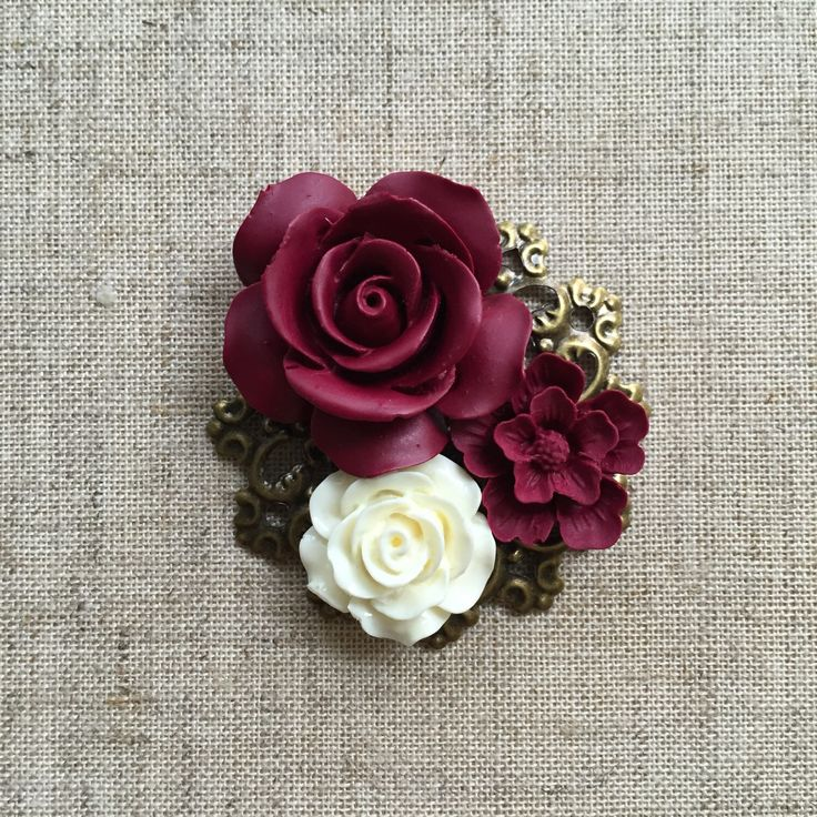 A personal favorite from my Etsy shop https://www.etsy.com/listing/231024554/wedding-broochboutonniere-with