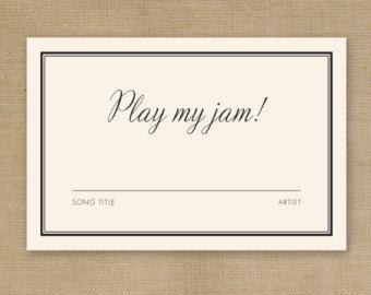 DIY Printable Wedding DJ Song Request Card