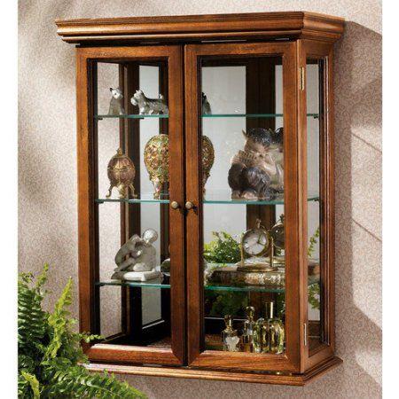 Design Toscano BN2430 Country Tuscan Style Hardwood Wall Curio Cabinet - Walmart.com