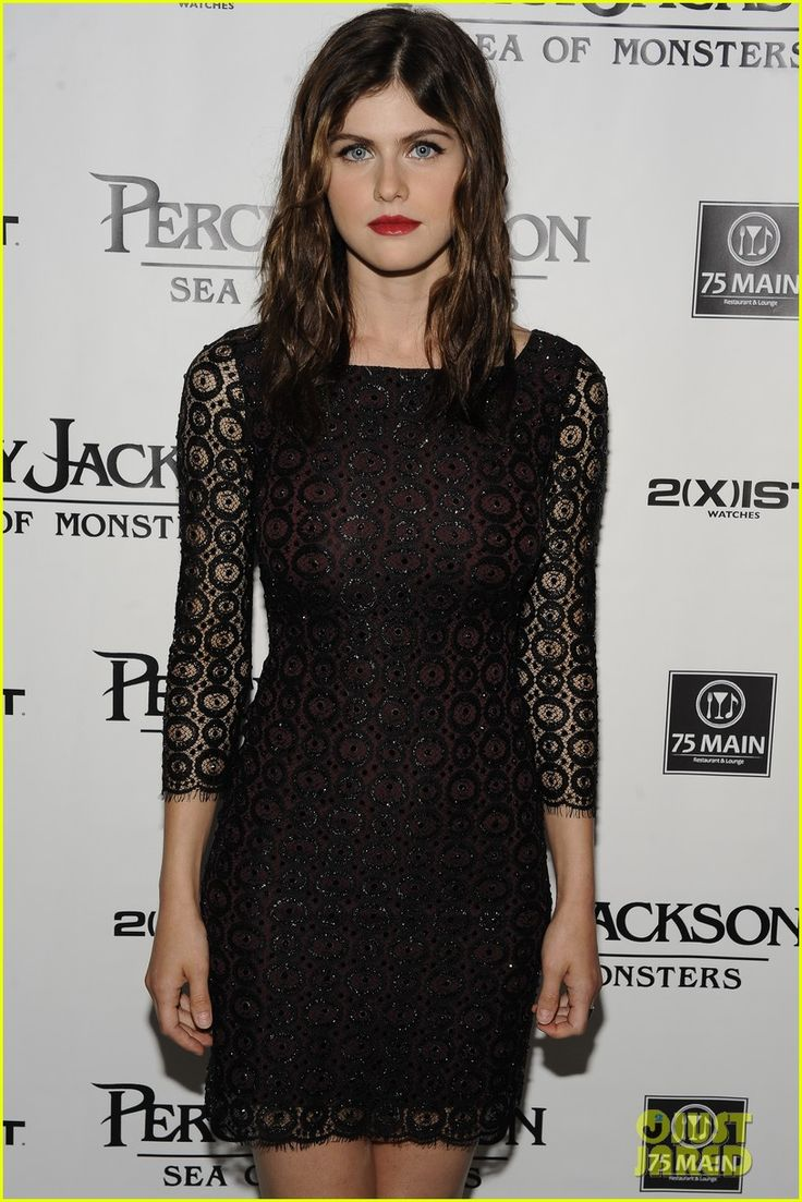 Alexandra Daddario: 'Percy Jackson' Hamptons Premiere! | Logan Lerman, Stanley Tucci Photos | Just Jared