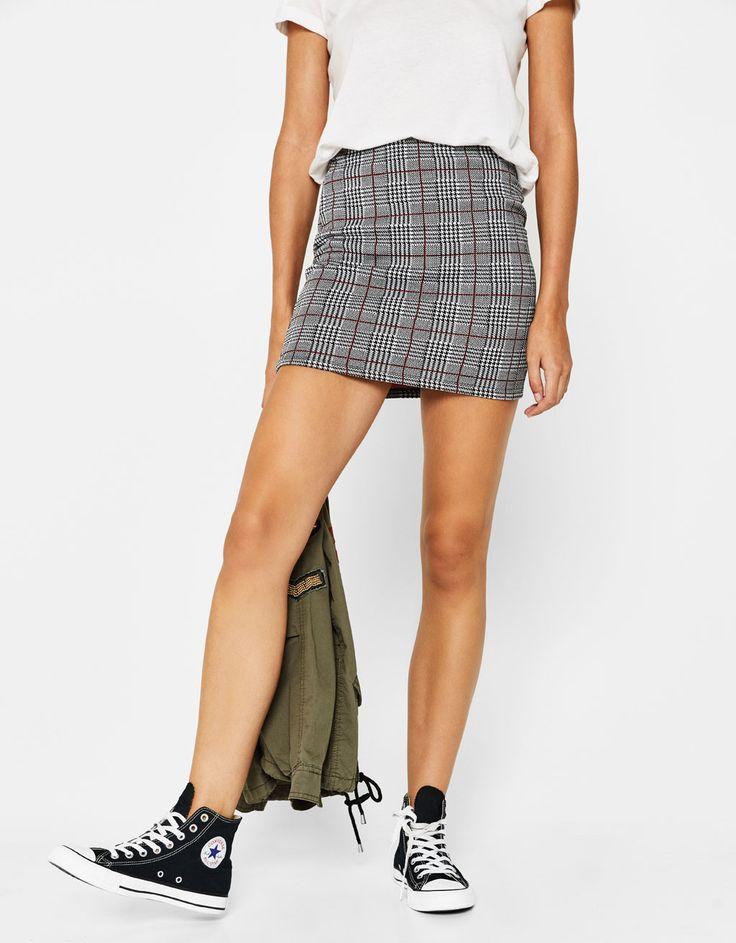 Bershka Singapore - Short fitted skirt