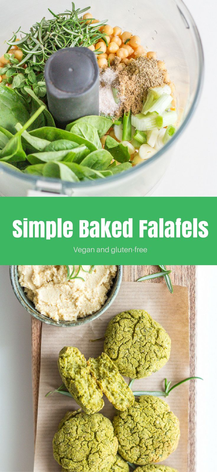 Homemade Simple Baked Falafels – easy to make, delicious, healthy, and satisfying.Vegan and gluten-free option.  Healthy vegan dinner recipes |  healthy vegan recipes | vegan dinner recipes | vegan dinner | vegan sides | dinner recipes | healthy dinner recipes