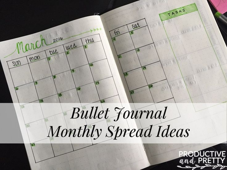 bullet journal monthly spreads ideas and inspiration something new journal pages and bullets. Black Bedroom Furniture Sets. Home Design Ideas