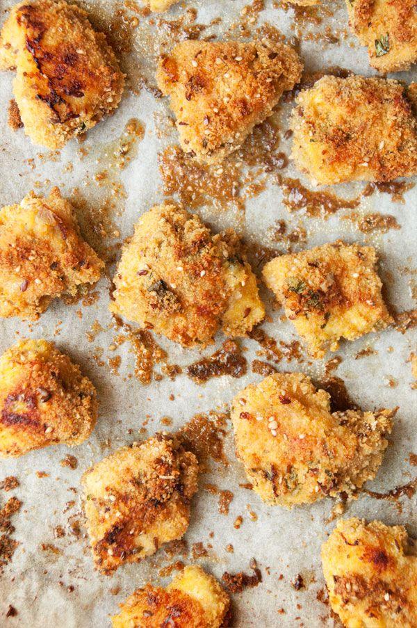 Nuggets de poulet au four. Essayé et aprouvé.