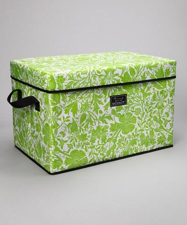 scout by bungalow petallica green rump roost large storage bin u0026 lid - Large Storage Bins