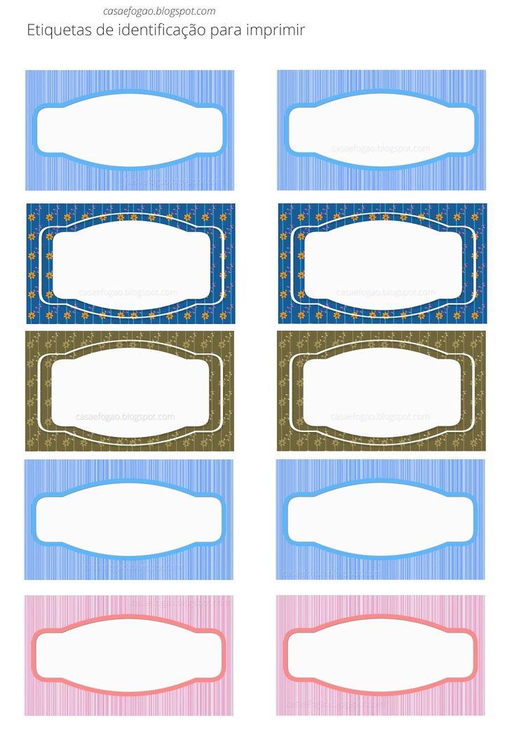 Etiquetas de identificação para caixas e potes