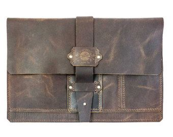 Leather iPad Portfolio Case FREE personalisation by OakAndAwl