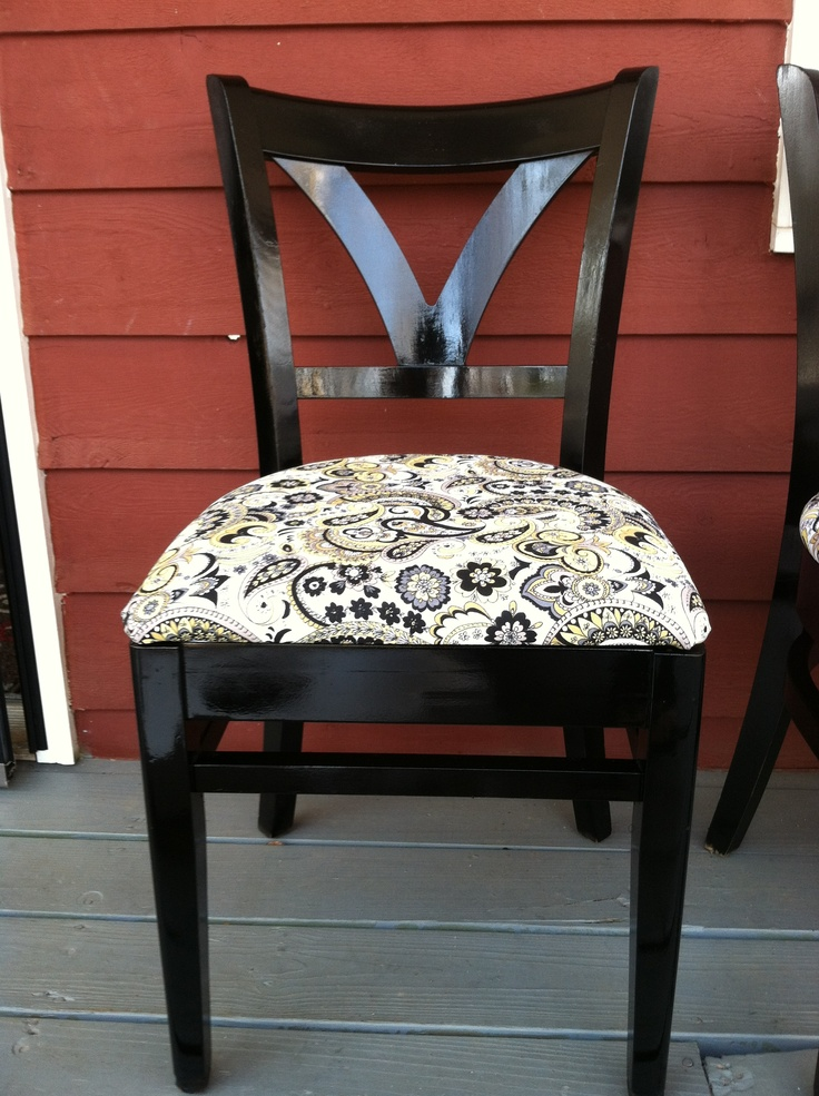 Reupholstered Dining Chairs DIY Project