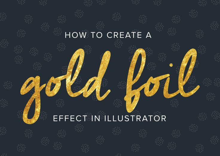 {How to create a gold foil effect} perfect starter tutorial, I've been wanting to try Illustrator