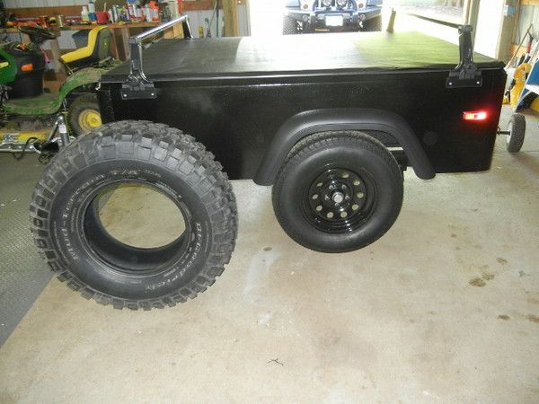 """With Dinoot Jeep trailers you choose the tire size that works best for you. They are just as happy riding on 27"""" rubber as 35""""."""
